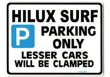 HILUX SURF Large Metal_Sign for Toyota  hi lux Gift